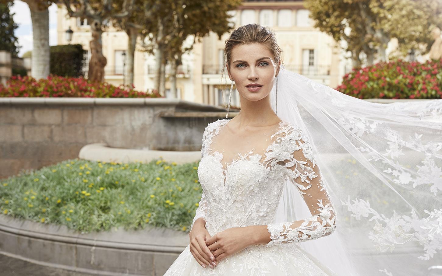 Robe de mariée Benasque de face - Boutique à Héricourt