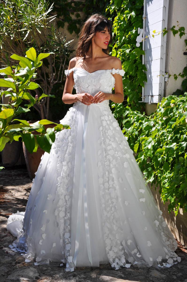 Robe de mariée made in France - FLORA
