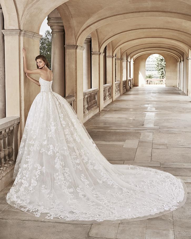 Robe de mariée Jaya de dos - Boutique à Héricourt